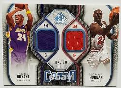 09/10 SP GAME USED EDITION KOBE BRYANT / MICHAEL JORDAN 50-piece limited jersey
