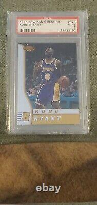 1996 Bowmans Best Kobe Bryant Rookie #r23 Graded Mint Psa 9 Rc