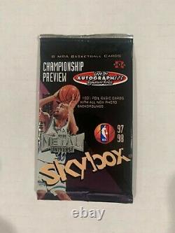 1997-98 Skybox Metal Universe Championship Preview Basketball Pack Galaxy