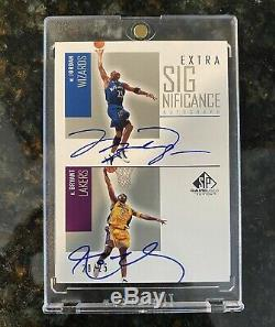 2002-03 UD SP Game Used Michael Jordan/ Kobe Bryant Dual Auto Autograph /25