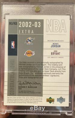 2002-03 UD SP Game Used Michael Jordan/ Kobe Bryant Dual Auto Autograph /25 RARE