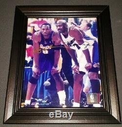 Kobe Bryant Michael Jordan Signed Autographed Upper Deck Picture With COA Auto