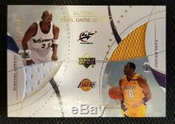 Michael Jordan Kobe Bryant Dual Game Jersey Card #/125 Ultimate Collection Patch