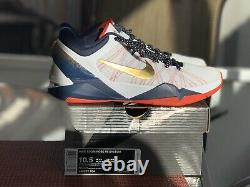 Nike Zoom Kobe 7 Size 10.5 USA GOLD MEDAL EDITION EXCLUSIVE BRAND NEW