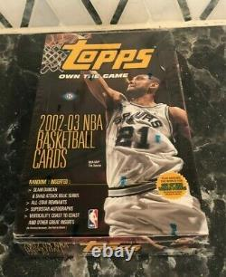 RARE 2002-2003 Topps NBA Basketball Sealed Hobby Box Michael Jordan Kobe Bryant